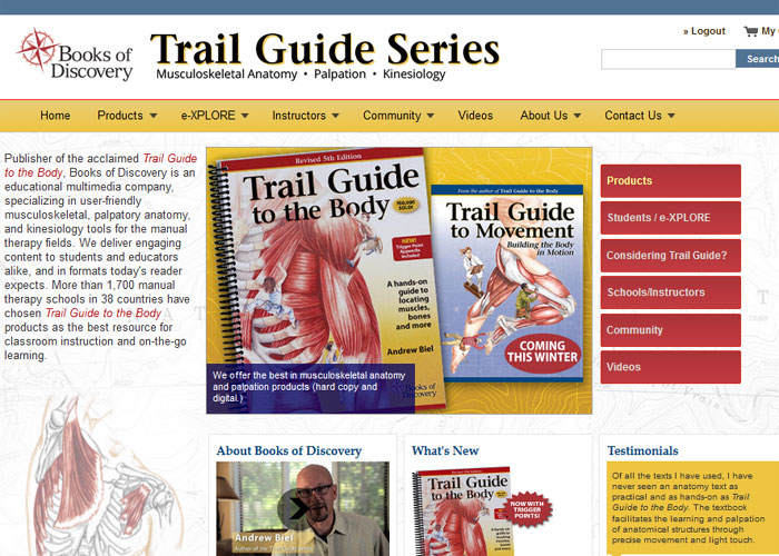 Trail Guide to the Body: How to locate the body's