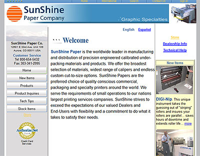 Sunshine Paper Inc before